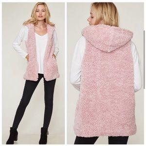 Pink Sherpa Fur Vest